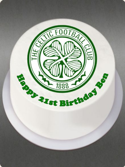Celtic (White Background) Edible Cake Topper